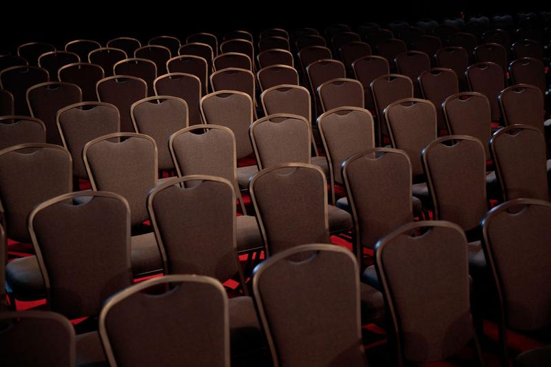 Chairs for audience members are arranged during a rehearsal for the first U.S. presidential debate at Hofstra University on Sept. 25, 2016, in Hempstead, N.Y. (Drew Angerer/Getty Images)