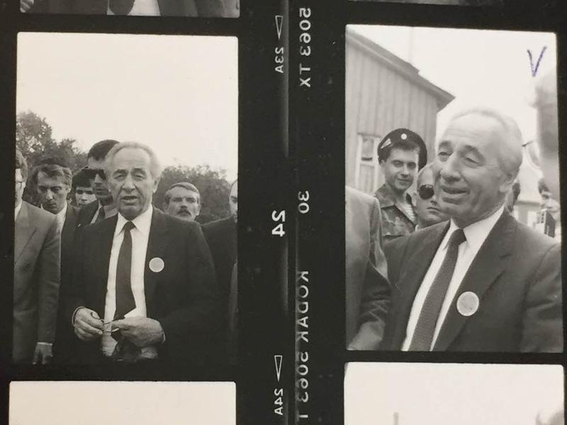 <em></em>Shimon Peres, Israel's foreign minister at the time, visits his home village — once part of Poland, now in Belarus — in 1992. He was looking for his boyhood home, but it had long since been torn down. Like many of Israel's founding fathers, he traced his roots to Eastern Europe.