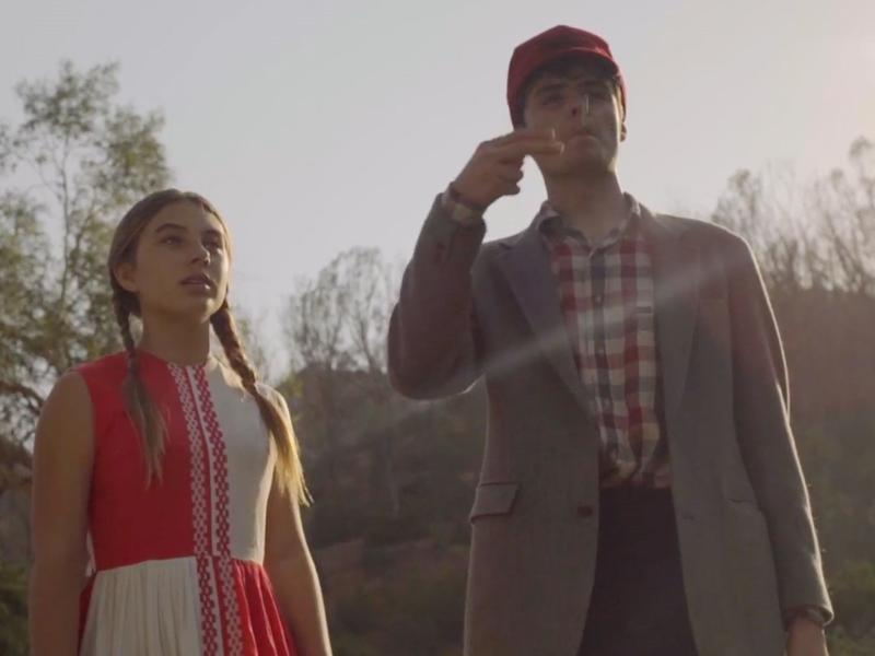 """Caitlin Carmichael and Duke Nicholson appear in a scene from The Dandy Warhols' video for """"Catcher In The Rye."""""""