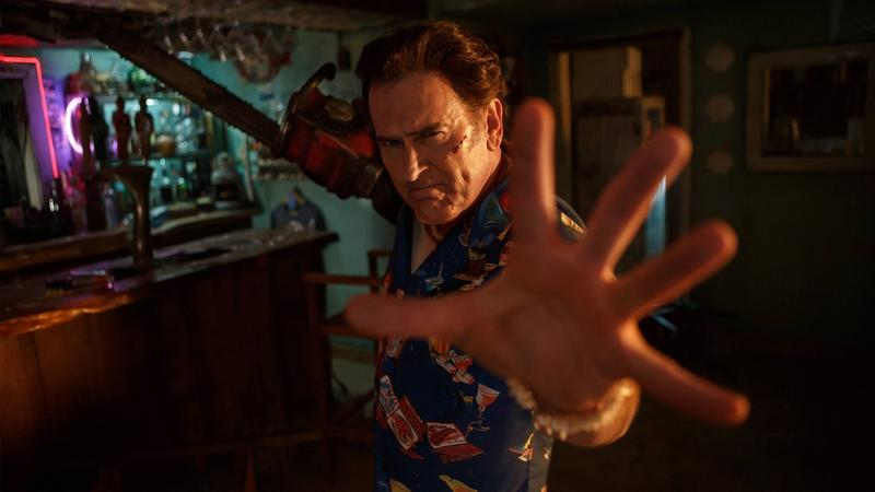 """A still frame from the Starz series """"Ash vs. Evil Dead,"""" which is returning for season two. Bruce Campbell plays Ash Williams (pictured), a comical-yet-flawed character who returns to his hometown to fight evil. (Courtesy Starz)"""