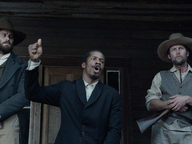 Armie Hammer, Nate Parker and Jayson Warner Smith in <em>The Birth of A Nation</em>