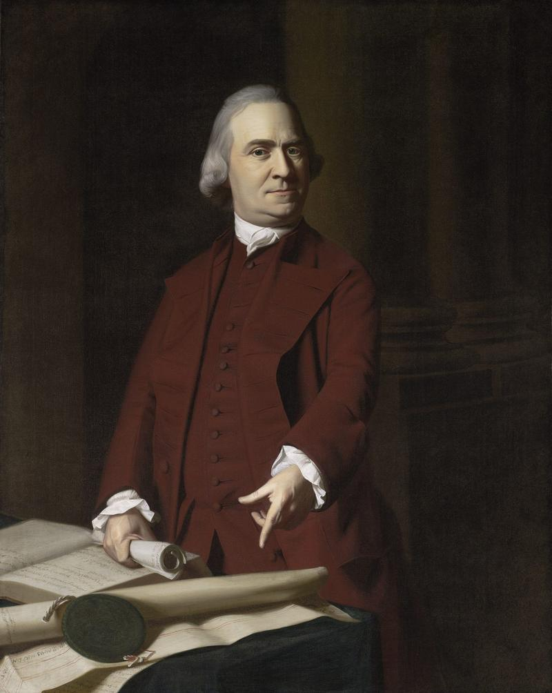 A portrait of Samuel Adams painted by John Singleton Copley. painted around 1772. (Courtesy Museum of Fine Arts, Boston)