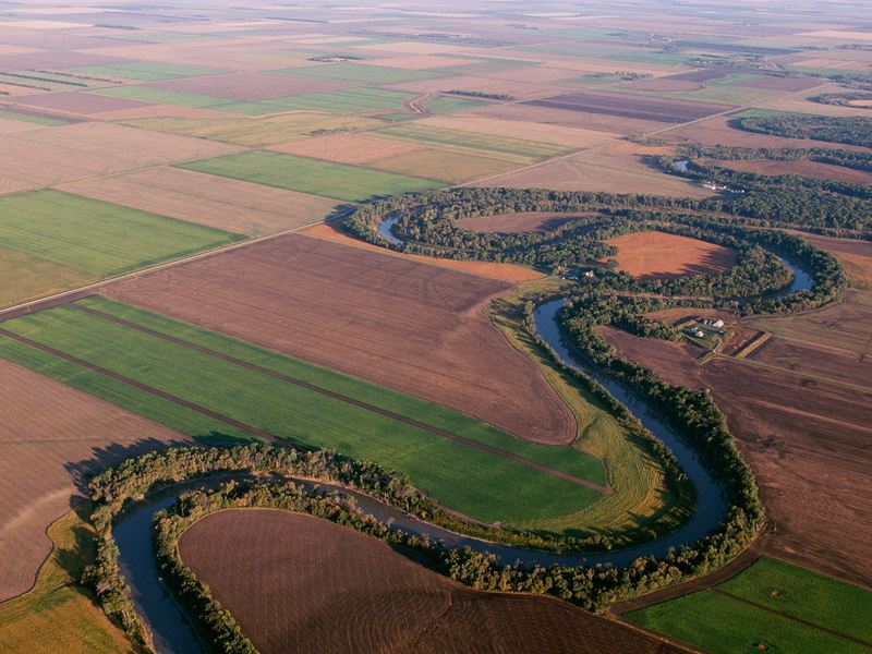 Land in the Red River Valley of Minnesota and North Dakota, as in much of the country, is dominated by farming.