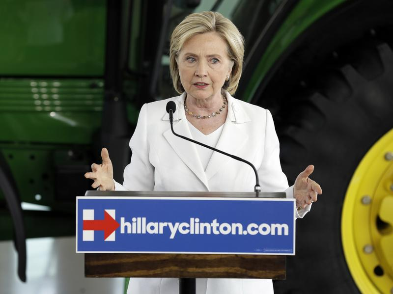Democratic presidential candidate Hillary Clinton at an event in Iowa Aug. 26 of last year, where she answered questions about the private email server she used as secretary of state.
