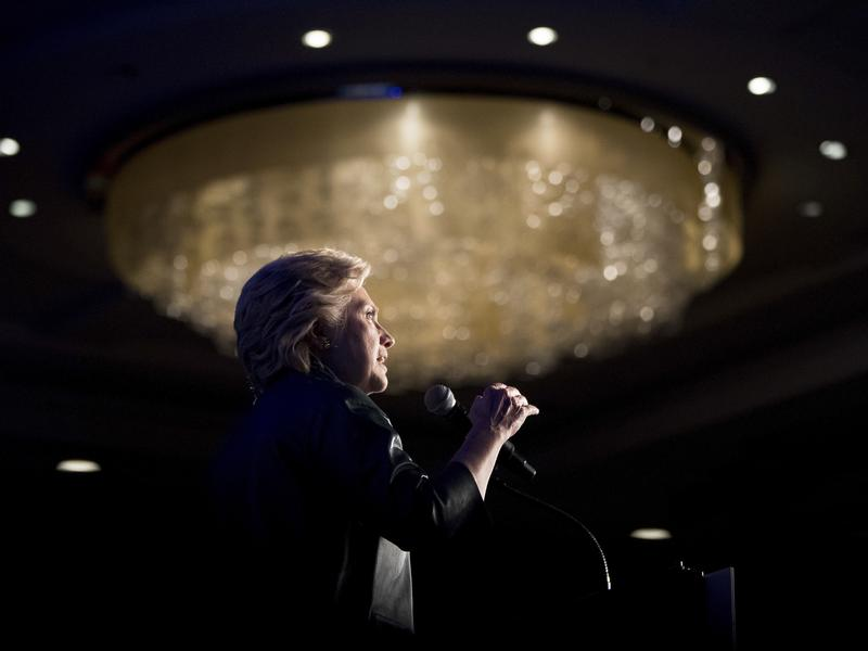 Democratic presidential candidate Hillary Clinton speaks at a fundraiser in Washington, D.C., on Oct. 5.