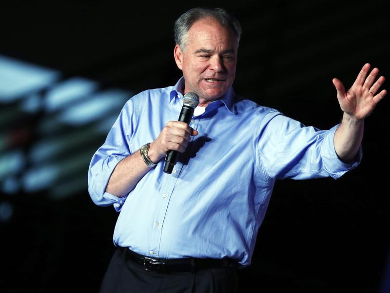 Democratic vice presidential candidate Sen. Tim Kaine campaigns in Virginia last week.