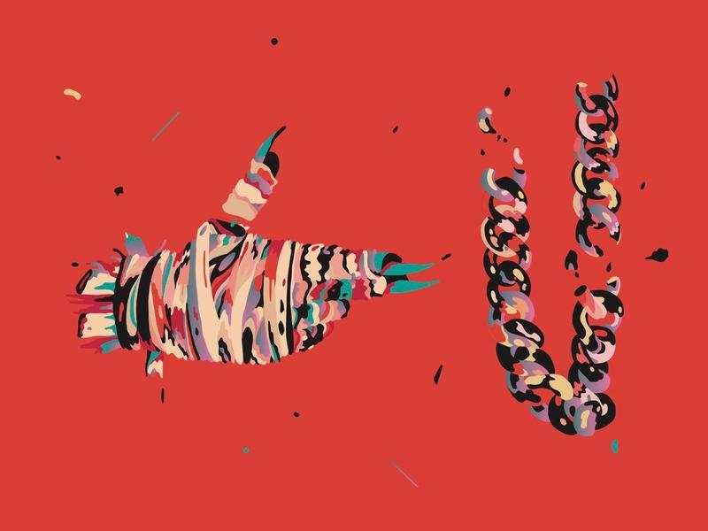 """Single artwork for Run The Jewels' """"Talk To Me."""""""