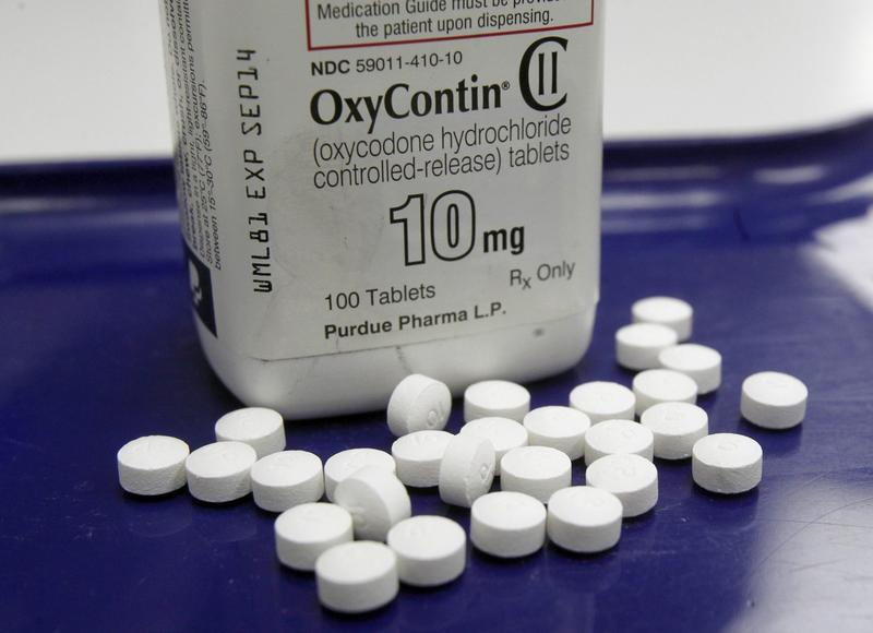 OxyContin pills in a Feb. 19, 2013, file photo. (Toby Talbot/AP)