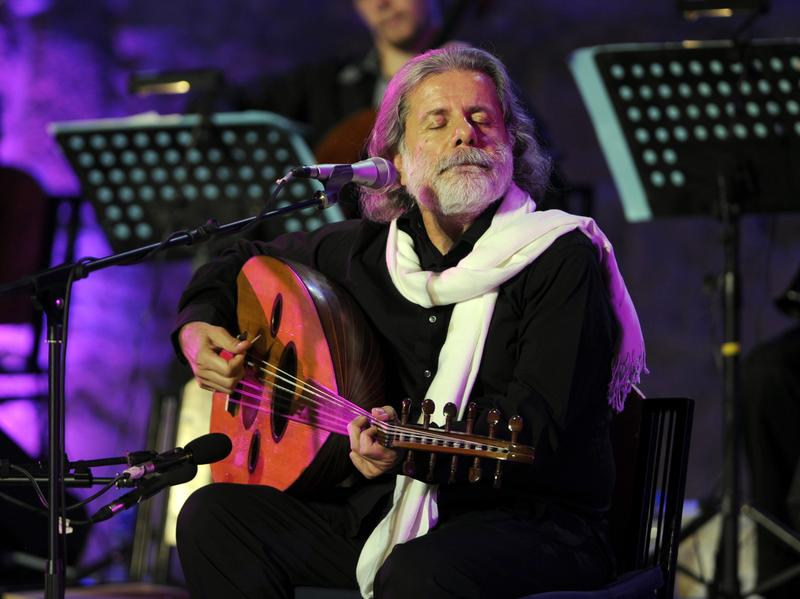 Marcel Khalife performs in Carthage, Tunis in 2012. His new album, <em>Andalusia Of Love</em>, is an exploration of religious pluralism.