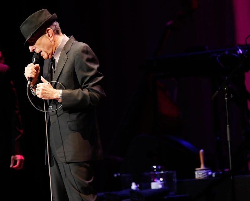 Musician Leonard Cohen performs at Radio City Music Hall on April 6, 2013 in New York City. (Jemal Countess/Getty Images)