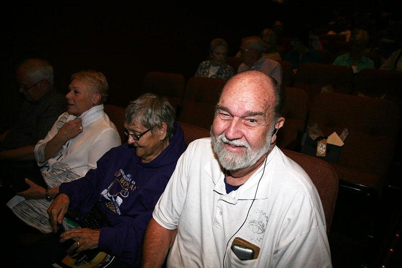 Tom Belson (with his wife Ruth) loved theater long before he lost his sight 40 years ago. He says some few theaters get the importance of audio description. (Stina Sieg/KJZZ)