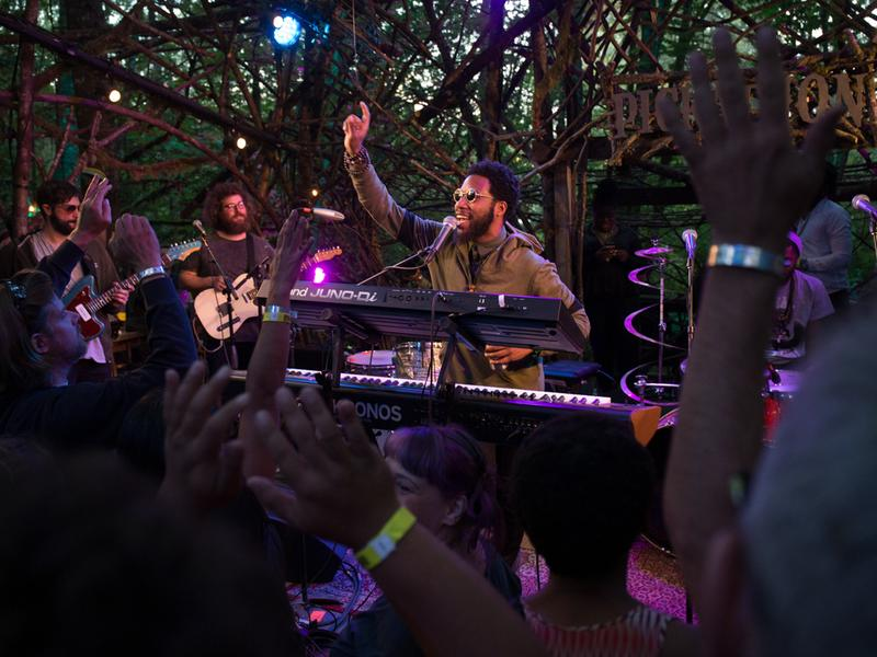 Cory Henry & The Funk Apostles perform live at the Woods Stage at Pickathon 2016.