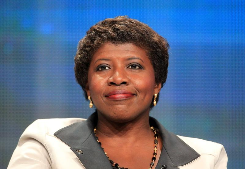 Gwen Ifill onstage at a PBS panel in Los Angeles. (Frederick M. Brown/Getty Images)