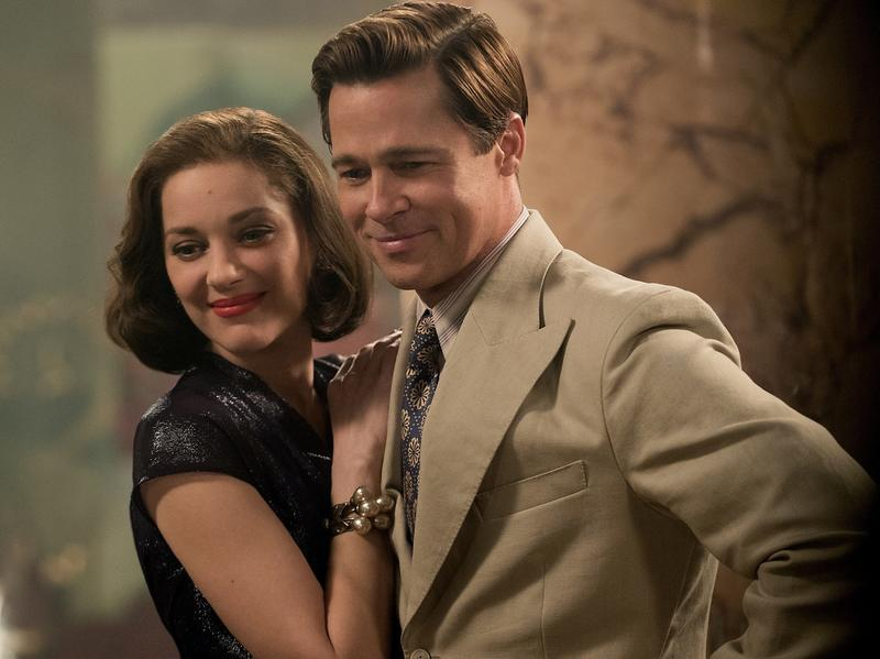 Brad Pitt plays Max Vatan and Marion Cotillard plays Marianne Beausejour in <em>Allied</em>.