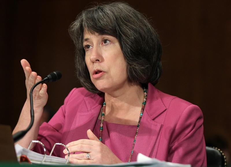 Former Federal Deposit Insurance Corporation (FDIC) Chairman Sheila Bair testifies during a hearing before the Senate Banking, Housing and Urban Affairs Committee June 30, 2011 on Capitol Hill in Washington, DC. (Alex Wong/Getty Images)