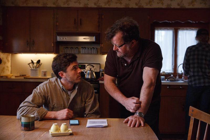 """Casey Affleck and Kenneth Lonergan on the set of """"Manchester by the Sea."""" (Courtesy Claire Folger/Amazon Studios and Roadside Attractions)"""