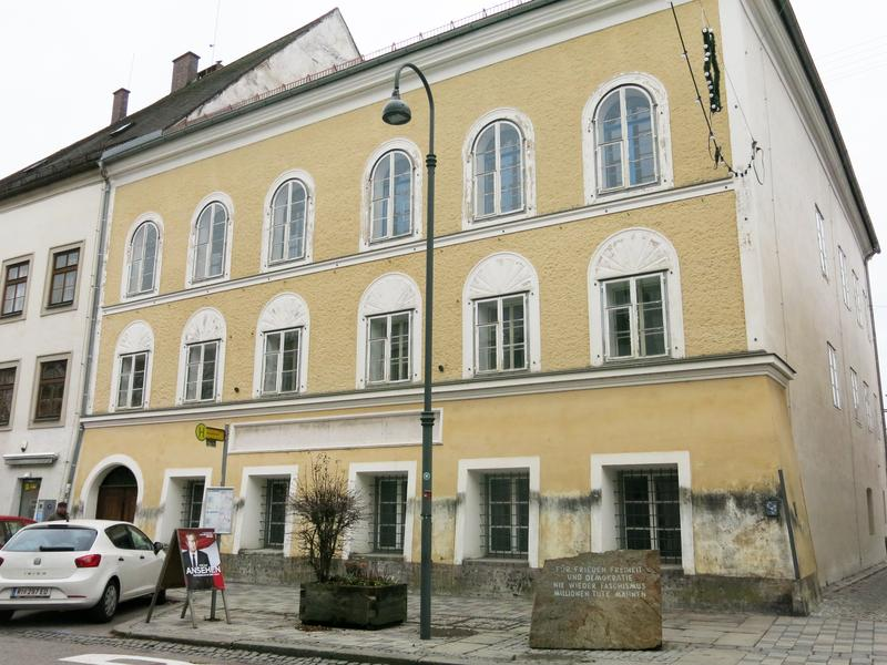 Adolf Hitler was born in 1889 in an upstairs apartment of this house in the Austrian town of Braunau am Inn, near the border with Germany.