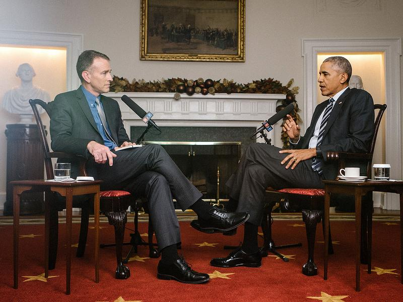 In a wide-ranging interview, NPR's Steve Inskeep asks President Obama about Russian interference in the U.S. election, executive power, the future of the Democratic party and his future role.