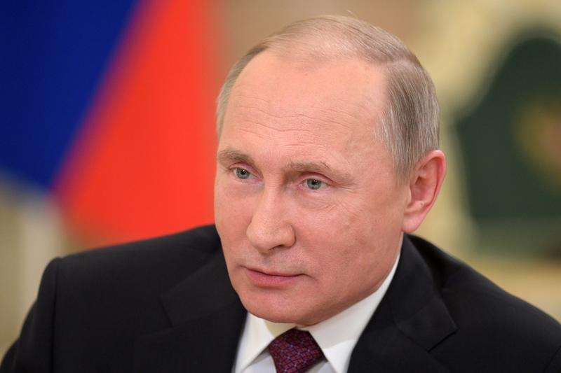 Russian President Vladimir Putin speaks during an interview on Dec. 7, 2016, in Moscow, Russia. (Alexei Druzhinin/ Sputnik, Kremlin Pool Photo via AP)