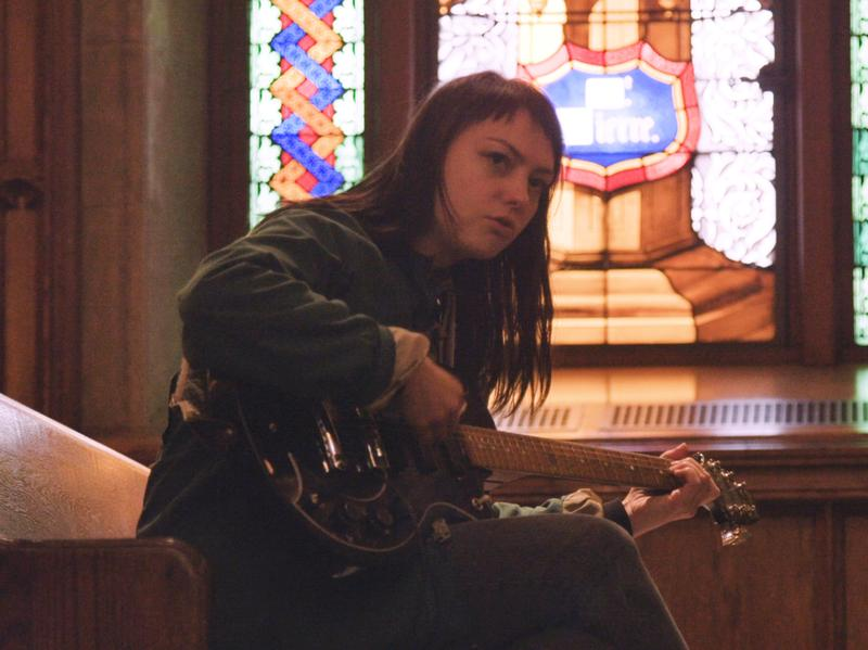 "Angel Olsen performs ""Give It Up"" in the Fordham University Church."