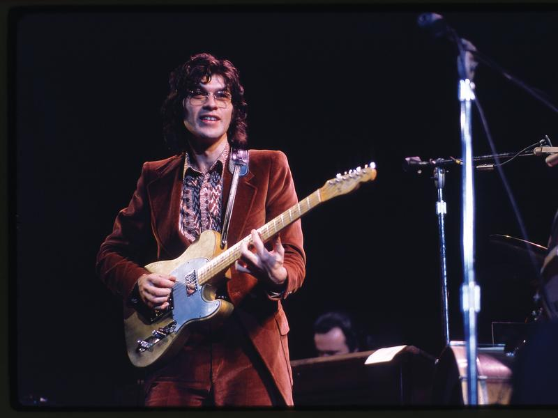 Robbie Robertson onstage at the Academy of Music in December 1971.