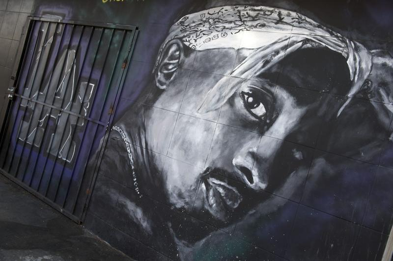 A mural dedicated to rapper Tupac Shakur in  Los Angeles. (Valerie Macon/AFP/Getty Images)