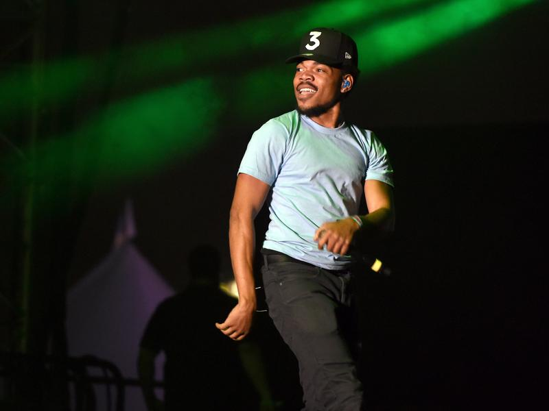 "Chance the Rapper performs in L.A. in November 2016. His mixtape <em>Coloring Book </em>can't be bought — but by<strong> </strong><em>Billboard</em>'s rules, it was streamed enough times last year to equal 500,000 album ""sales."""
