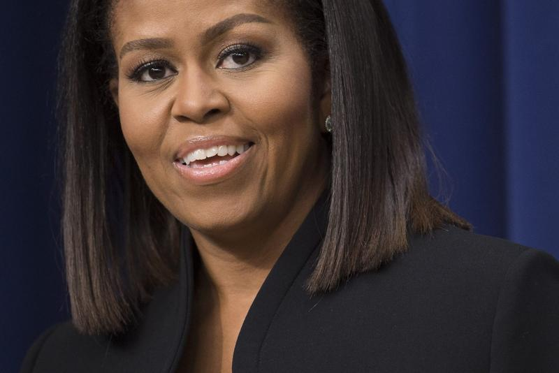 First Lady Michelle Obama speaks in the Eisenhower Executive Office Building adjacent to the White House in Washington, D.C. on Dec. 15, 2016. (Saul Loeb/AFP/Getty Images)