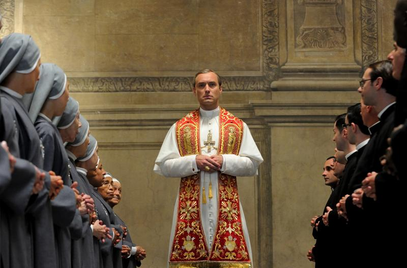 "This image released by HBO shows Jude Law from the HBO series, ""The Young Pope."" (HBO via AP)"