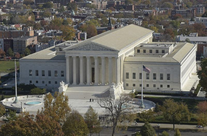 A view of the Supreme Court from the Capitol Dome, on Capitol Hill in Washington, Tuesday, Nov. 15, 2016. (Susan Walsh/AP)