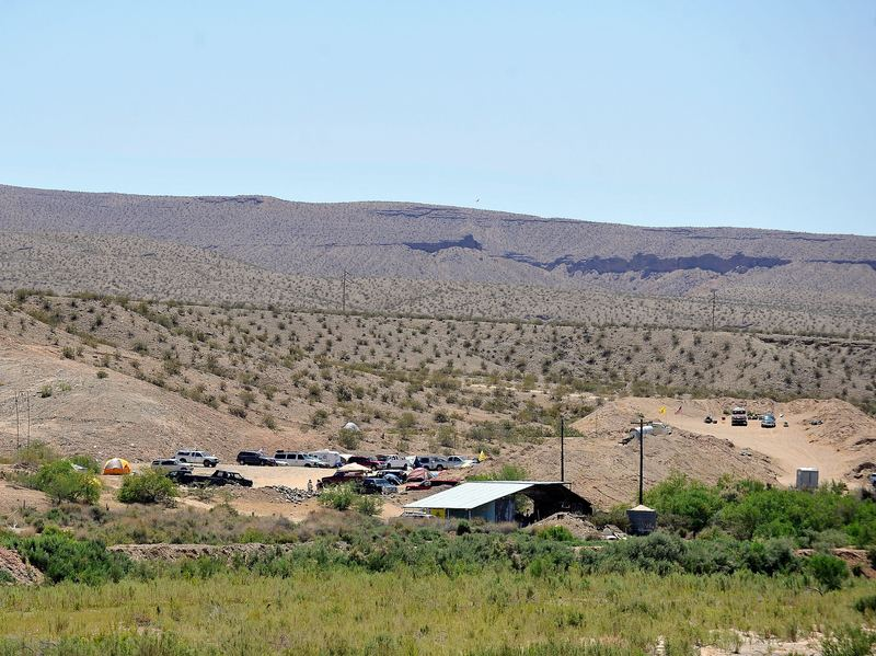 Supporters of rancher Cliven Bundy camp near his ranch on in Bunkerville, Nev., in April 2014. Bundy and the Bureau of Land Management have been locked in a decades-long dispute after Bundy stopped paying grazing fees, which led to an armed standoff against the U.S. government in 2014.