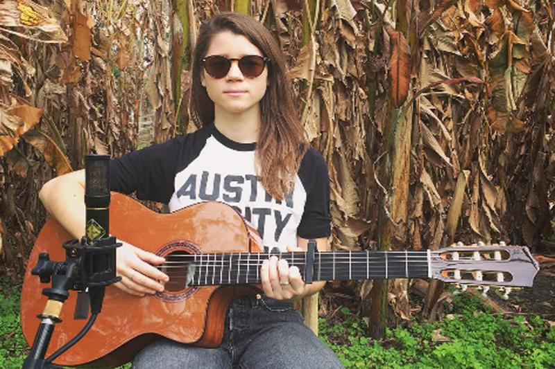 Lady Lamb, aka Aly Spaltro, in a recording session at Dudley Farm Historic State Park in Florida. (Courtesy Lady Lamb)