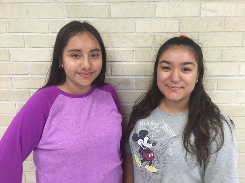 Jazmin Cruz (left), 15, and Jainny Leos, 18, both picked Zumba, a dance fitness class, for their Genius Time because they're passionate about health. They say that family members suffer from diabetes and they want to combat chronic illness in their community through fitness. (Laura Isensee)