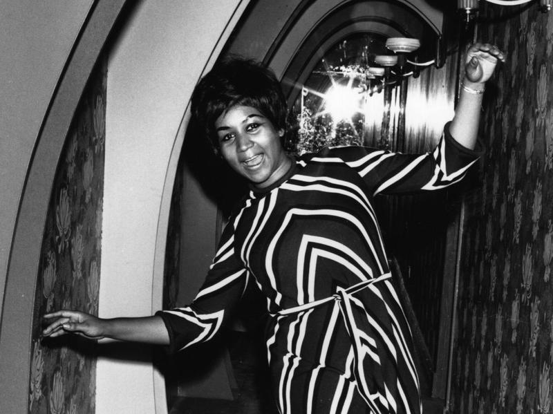 Aretha Franklin poses for the cameras in 1968.