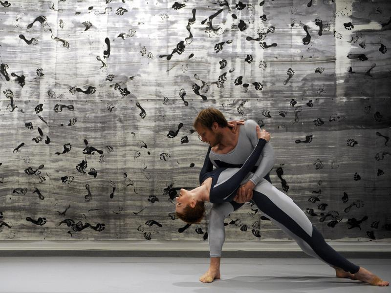 Dancers with the Merce Cunningham Dance Company perform in Madrid in 2009. In accordance with Cunningham's wishes, the company shut down soon after his death.