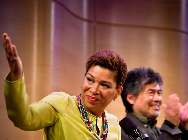 NPR's Michel Martin at a recent event during her Going There series.