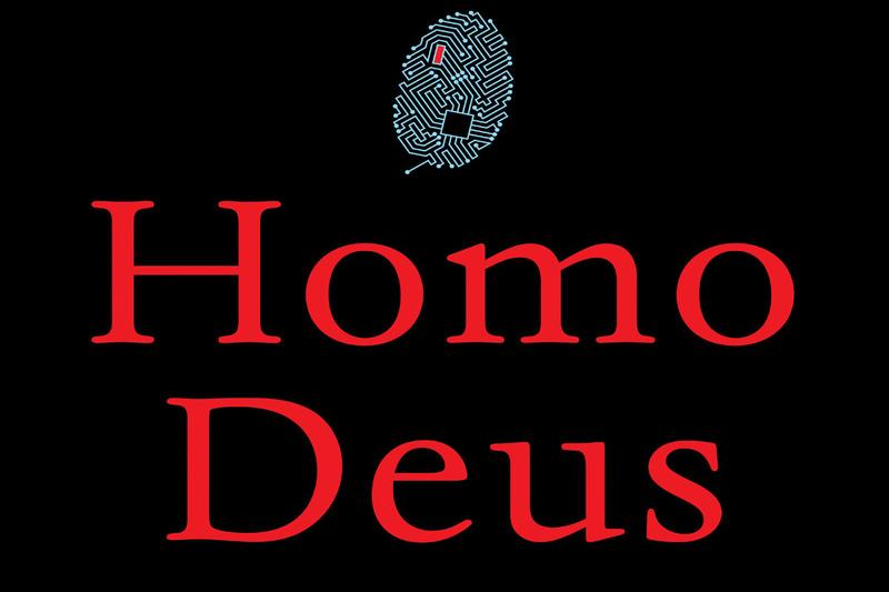 "A portion of the cover of Yuval Noah Harari's new book, ""Homo Deus."" (Courtesy Harper)"
