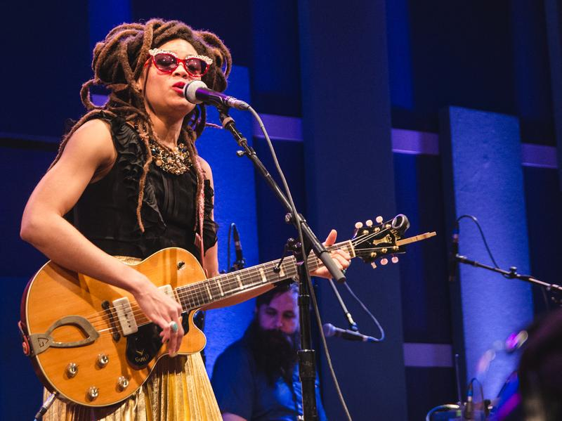 Valerie June performs onstage at World Cafe Live in Philadelphia.
