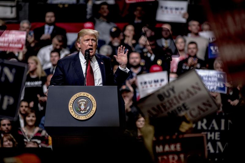 President Trump speaks at a rally on March 15, 2017 in Nashville. (Andrea Morales/Getty Images)