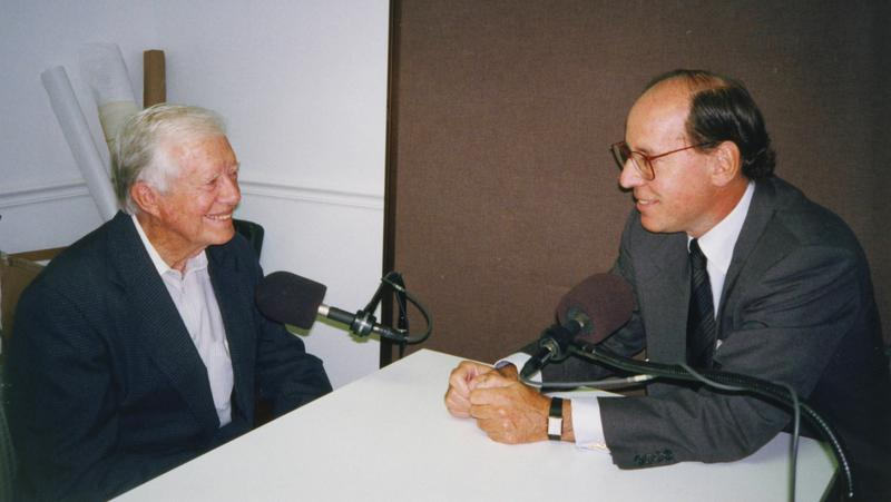 Jimmy Carter with Mad About Music host Gilbert Kaplan.