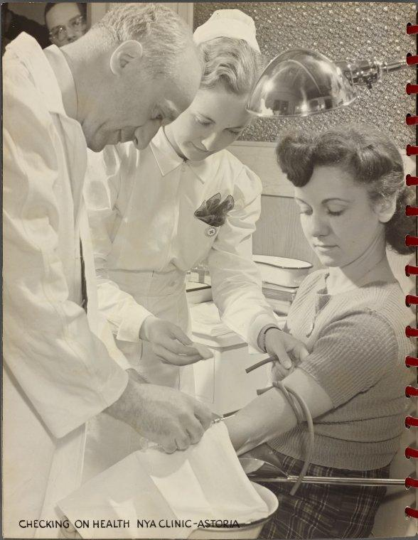 Checking on Health NYA Clinic - Astoria (ca. 1941)