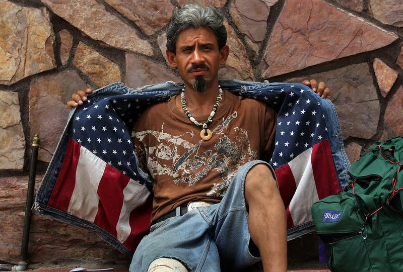 Recently-deported Mexican immigrant Jose Manuel, 42, outside an aid station July 27, 2010 in Nogales, Mexico, just across the border from Arizona. Manuel  lived in San Mateo, California for 10 years.