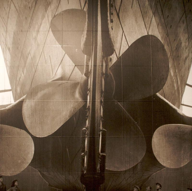 A photo of the Titanic's propellers.