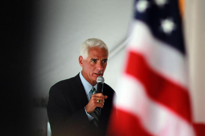 Florida Governor Charlie Crist speaks during the 826/836 Interchange Project Dedication Ceremony on April 26, 2010 in Miami, Florida.