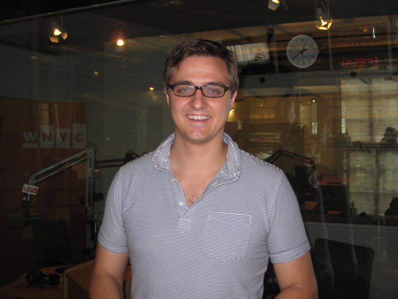 Chris Hayes in the WNYC studios