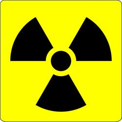 A radiation warning sign.