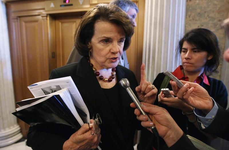 U.S. Sen. Dianne Feinstein (D-Cali.) speaks with reporters after the tax compromise vote December 15, 2010 in Washington, DC