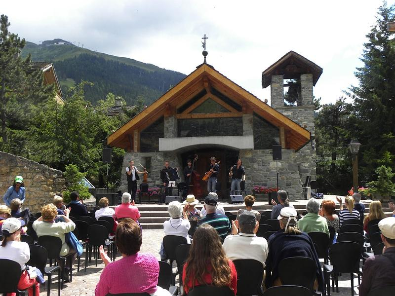 An outdoor concert at the Verbier Festival 2012 in Switzerland