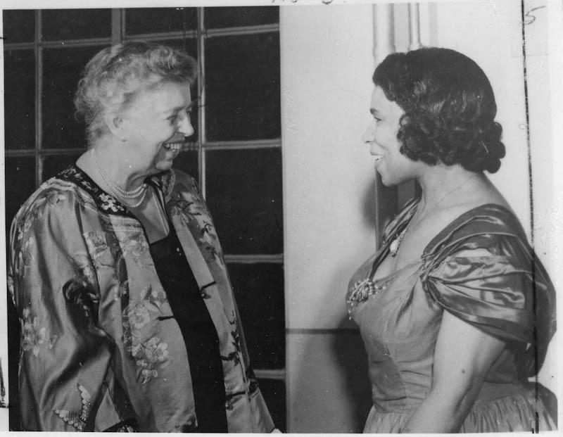 Eleanor Roosevelt and Marian Anderson upon arrival in Japan, May 22, 1953.