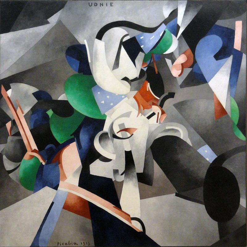 Francis Picabia, 1913, Udnie (Young American Girl, The Dance), oil on canvas, 290 x 300 cm,